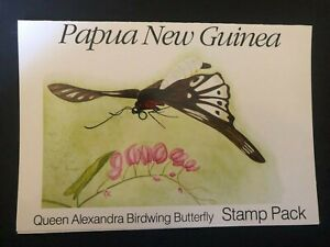 PAPUA NEW GUINEA STAMP PACK FULL SET 1988 BIRDWING BUTTERFLY WWF