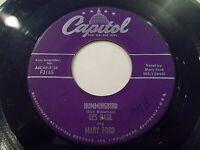 Les Paul & Mary Ford Hummingbird / Goodbye My Love 45 1956 Capitol Vinyl Record
