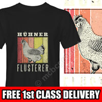 CHICKEN WHISPERER German Funny TShirt Farmer Graphic Mens Black T-Shirt T Shirt