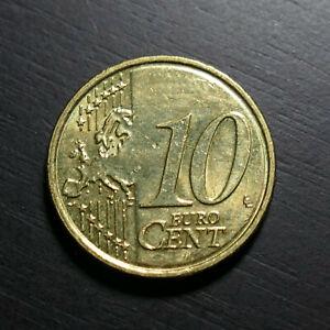 Ireland Republic Eire 10 Euro Cent Brass 2008 Sandyford