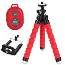 New Flexible Tripod Stand + Phone Holder + Remote Control For iPhone Cell Phones