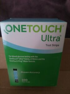One Touch Ultra Test Strips 100 (1 Box) Total 100 Exp: 2022