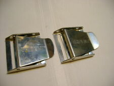 2 Ea Used Trident Divers Weight Belt Buckles Stainless Steel