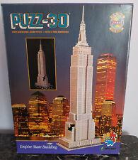 "Wrebbit Puzz-3D Empire State Building 902 Pc Puzzle 42""x14""x7"" in Box"