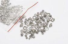 DIY Lots Mixed 60pcs Tibetan Silver Spacer Beads Hope Love Cross Findings DIY