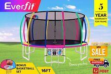 Everfit 16FT Trampoline Round Trampolines Kids Enclosure Safety Net Pad Outdoor
