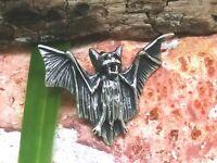 Kleiner Fledermaus Echt 925 Silber Anhänger Vampire Mittelalter Gothic
