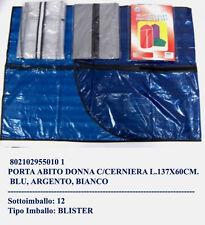 Set 6 busta custodia porta abito impermeabile 60*137 con cerniera 3 colori