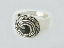 Blickfang! Sehr schöner Silberring 925 Ring Silber schwarz emailliert Damenring