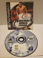 Knockout Kings 2000 PS1 Sony Playstation 1999 no case, just game and manual