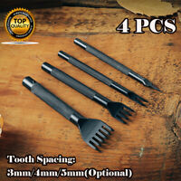 1/2/4/6 Prong Leather Punch Chisel Hole Punches Stitching Craft Tools  4Pcs/Set