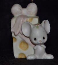 Precious Moments- Mouse With Cheese - Rare Ornament -E2381 -Cross Mark
