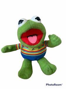 "Vintage Hasbro Softies Muppet Babies Kermit the Frog Plush Toy 12"" 1985"