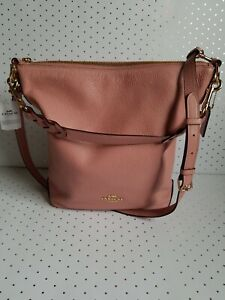 Coach ☆ Leather Abby Duffle ~ Pink Petal ☆ Purse Handbag mfsrp $398 (F31507)