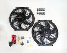 """10"""" Dual Electric Radiator Fan with 210 Degree Temperature Switch Relay Kit NEW"""