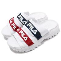 Fila Outdoor Slide White Navy Red Women Casual Lifestyle Sandals Slippers