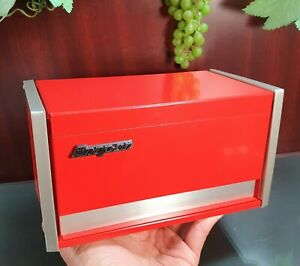 Miniature Red Snap-on mechanics micro mini tool box 3 drawer w/pads Free Ship US