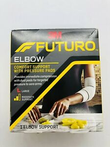 Futuro Elbow Support with Pressure Pads, Moderate Stabilizing Support, Large