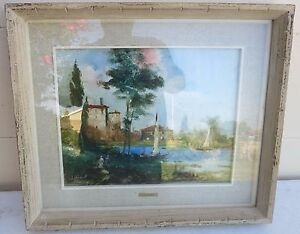 IMPRESSIONIST PASTEL LANDSCAPE  PAINTING BY BY G.C. CHIABERT