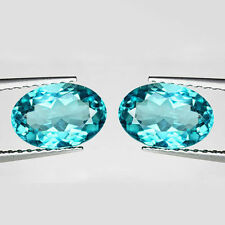 1.60Ct ALLURING Gem - Hi-End Sparkling Natural Paraiba Hue BLUE APATITE 2Pc BG15