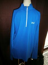 Nwt Under Armour Men's Size Large All Season Gear Long Sleeve Blue Shirt 1/4 Zip