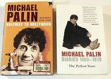 BOTH MICHAEL PALIN DIARIES '69-79 The Python Years + Halfway To Hollywood '80-88