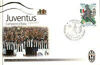 CARTOLINA FDC DEL PRIMO GIORNO - JUVENTUS CAMPIONE D'ITALIA 2004-2005
