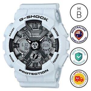 New Casio G-Shock S Series Watch GMAS120MF-2A Ana Digi White Resin Grey Dial