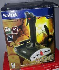 Saitek AV8R-01 Aviator Flight Stick USB PS33 Dual Throttle For PC..W / WWII Game