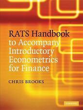 RATS Handbook to Accompany Introductory Econometrics for Finance, Brooks, Chris,