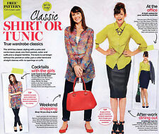 Classic Smart SHIRT & Simple Casual TUNIC Prima Sewing Pattern 10 12 14 16 18 20
