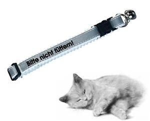 """Katzenhalsband reflektierend, bedruckt """"Bitte nicht füttern!"""" für ihren Liebling"""