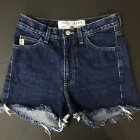 Vintage Guess Jeans Shorts High Waist Cut Off Dark Blue No Stretch Mom XS