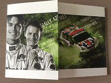 Carte postale Postcard Skoda FABIA S 2000 ANDREAS MIKKELSEN RALLY WRC