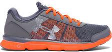 Under Armour Boys' Micro G® Speed Swift Running Shoes UK 3.5 Grey/orange 1266302