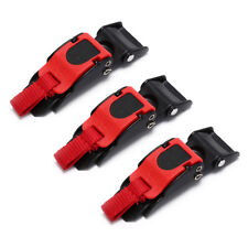 3x Motorcycle Bike Helmet Chin Strap Speed Sewing Clip 3 Quick Release Buckle HJ