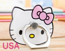Hello Kitty Cartoon Finger Ring Holder 360 Rotating Stand For Any Cell Phone US