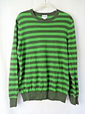 Old Navy Pull Over Shirt Sweater Long Sleeve Green Black Stripe Size M #8031