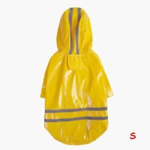 Dog Raincoat Waterproof Pet Rain Coat Rain Wear Clothes Hooded Reflective