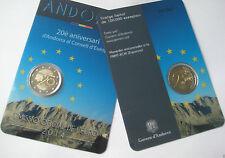 * COINCARD OFFICIEL - ANDORRE 2014 - BU - ENTREE au CONSEIL de l'EUROPE