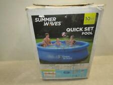 Summer Waves 10ft Quick Set Ring Pool with 600 Gph Filter Pump P1001030A