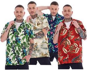 Mens Hawaiian Shirts Multicoloured Regular Big Size Summer Fancy Dress M to 5XL