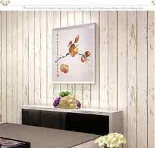 Cream Wood Optic Panelling Timber Plank Wood Panel Effect Wallpaper-10M Roll