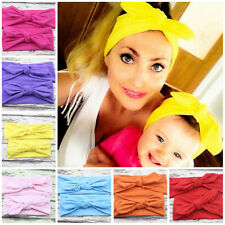2 Mom Baby Girl Headband Cotton Bow Women Hairband Stretch Turban Knot Head*
