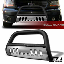 1997-2003 F150/F250 LD/EXPEDITION MATTE BLK BULL BAR BUMPER GRILLE GUARD+SS SKID