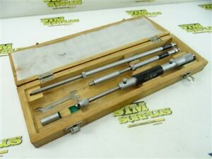 """NICE MITUTOYO 8""""-20"""" INTERNAL MICROMETER 141-121 .001"""" GRADS WITH CASE"""