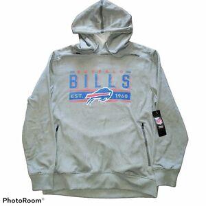 NFL Team Apparel Buffalo Bills Gray Hoodie Sweatshirt Mens sz L