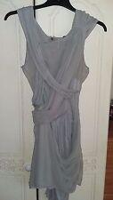 topshop grey bandage/wrap dress 10/12
