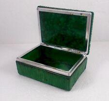 grüne Dose aus Kunstharz bzw. Resin Guss, Metallrahmen, 13 x 9 cm, 588 g schwer
