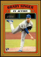 Brady Singer 2021 Topps Heritage 5x7 Gold #130 RC /10 Royals In Action